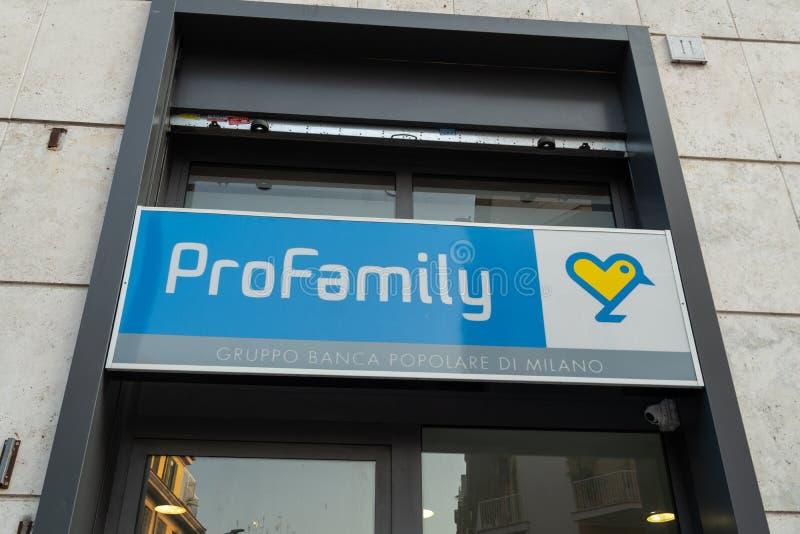 Signe de ProFamily images libres de droits