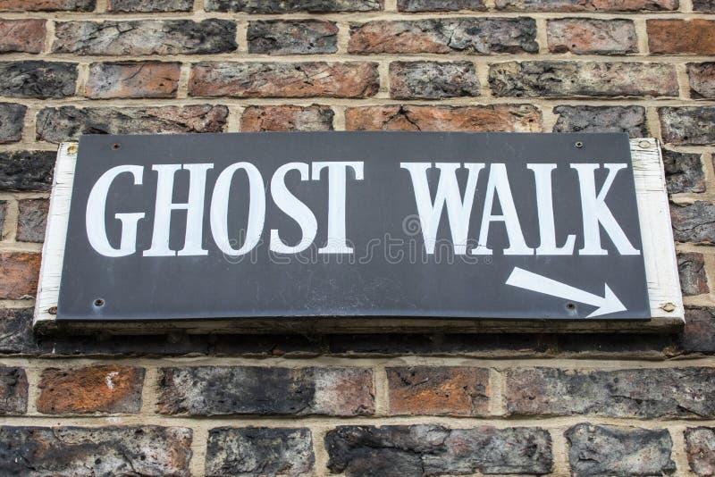 Signe de promenade de Ghost photos stock