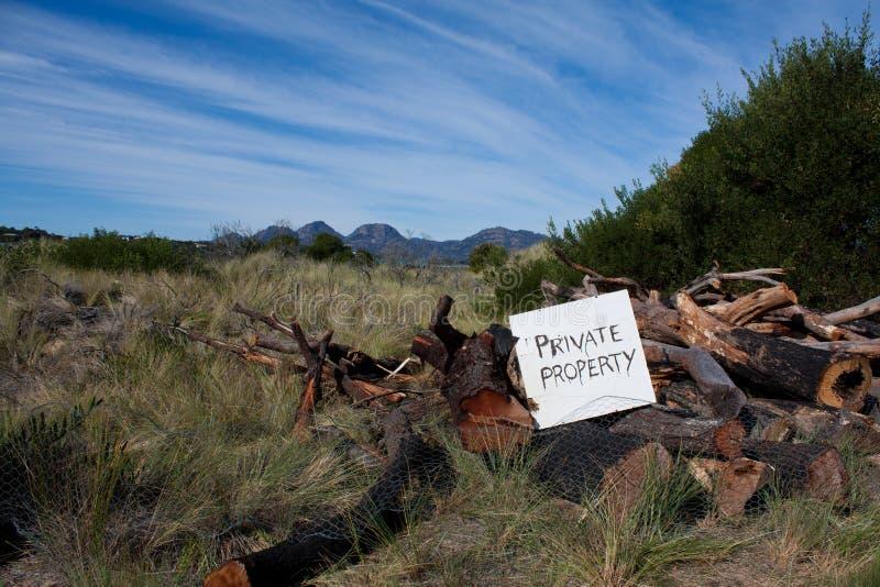 Signe de propriété privée photo libre de droits