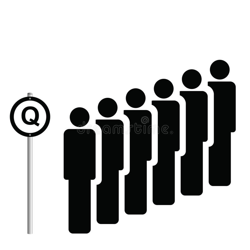 Signe de Q illustration libre de droits