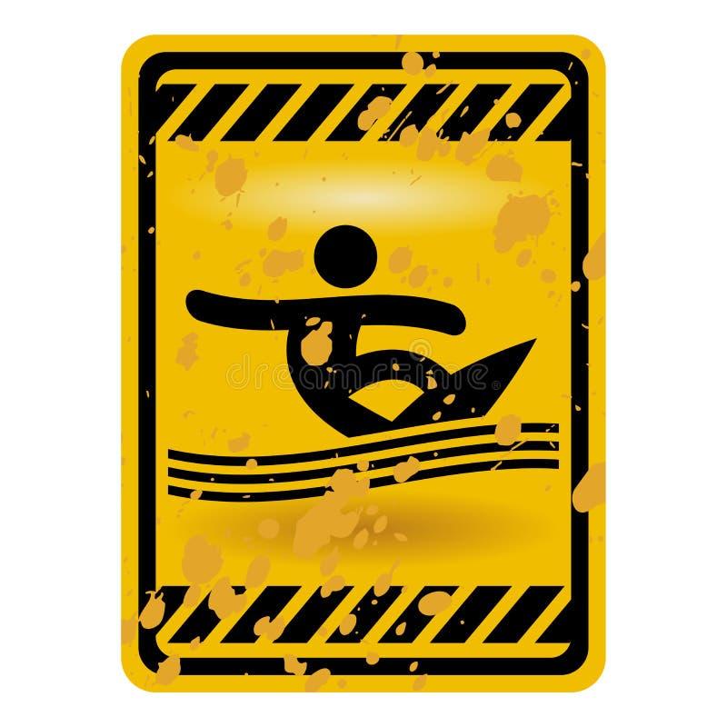 Signe de région de vague déferlante illustration stock