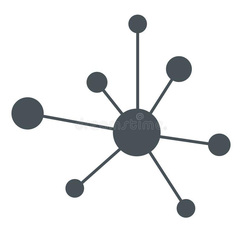 Signe de réseau d'icône de hiérarchie illustration libre de droits