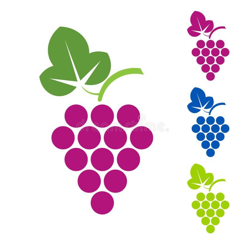 Signe de raisin Production vinicole de logo des vins illustration de vecteur
