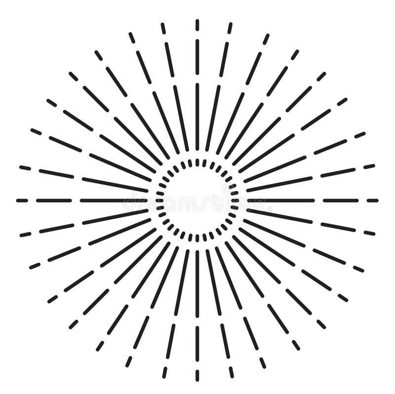 Signe de rayon de soleil de cru Illustration de vecteur illustration libre de droits