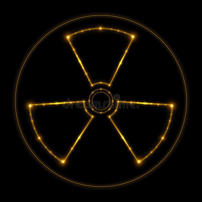 Signe de rayonnement, lignes rougeoyantes Vecteur illustration de vecteur