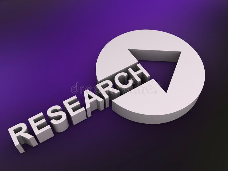 Signe de recherches avec la flèche illustration libre de droits