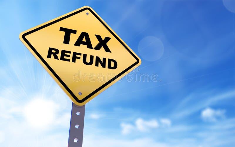 Signe de remboursement d'impôt fiscal illustration libre de droits
