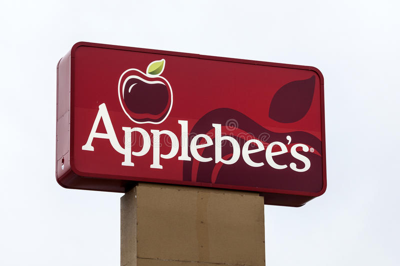 Signe de restaurant d'Applebees photos libres de droits