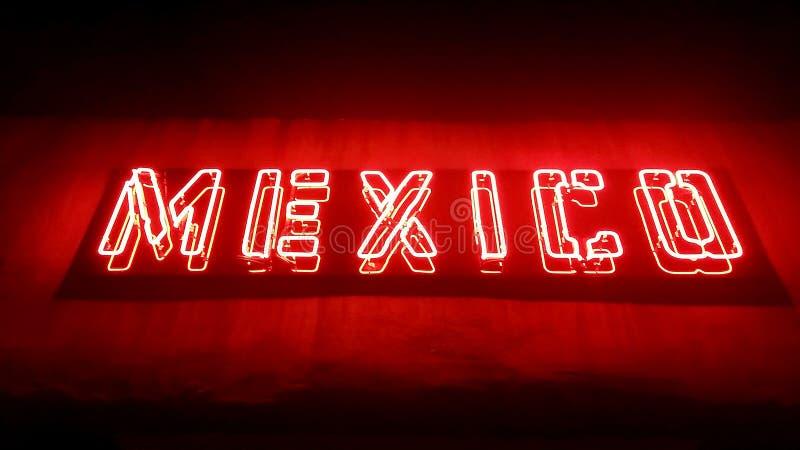 Signe de restaurant du Mexique image stock