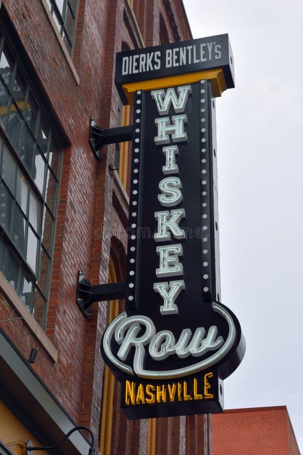 Signe de restaurant de rangée de whiskey images libres de droits