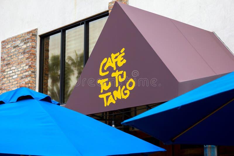Signe de restaurant de tango du TU TU de café photo stock