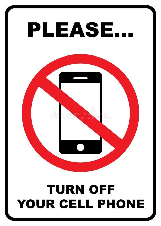 Signe de restriction de téléphone portable illustration stock