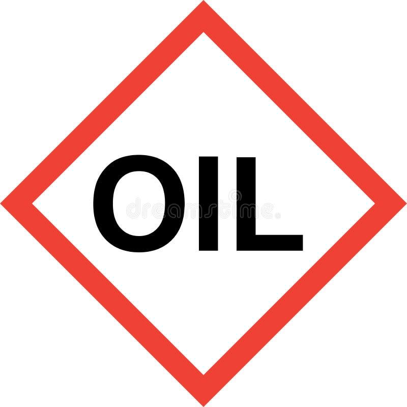 Signe de risque avec le texte d'huile illustration de vecteur