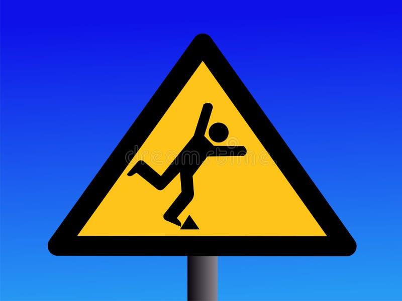 Signe de risque d'avertissement de voyage illustration de vecteur
