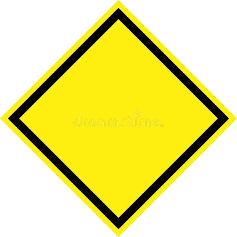 Signe de risque jaune illustration libre de droits