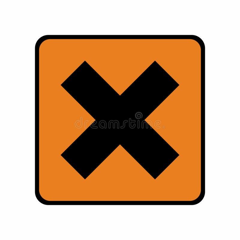 Signe de risque ou conception irritant de vecteur de symbole illustration de vecteur