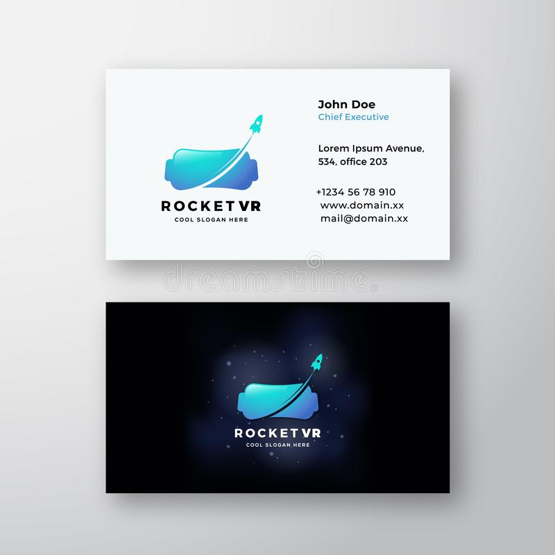 Signe de Rocket Virtual Reality Abstract Vector ou calibre de carte de visite professionnelle de logo et de visite Moquerie r?ali illustration libre de droits