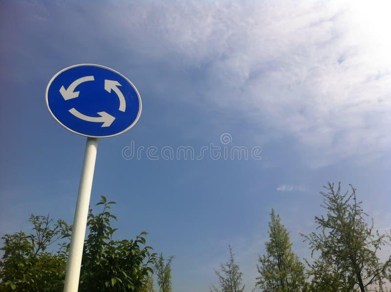 Signe de rond point photo stock