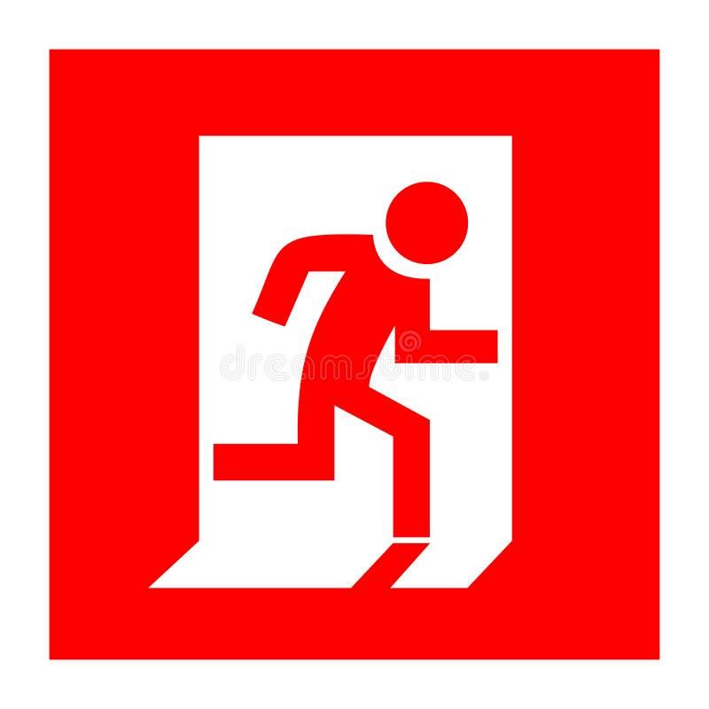 Signe de rouge de sortie de secours illustration stock
