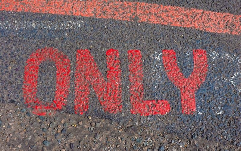 Signe de rouge seulement images libres de droits