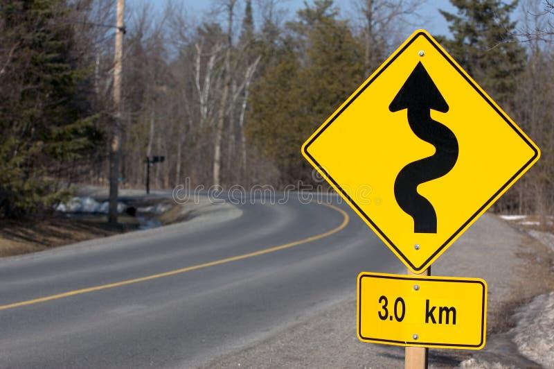Signe de route 2 photos libres de droits