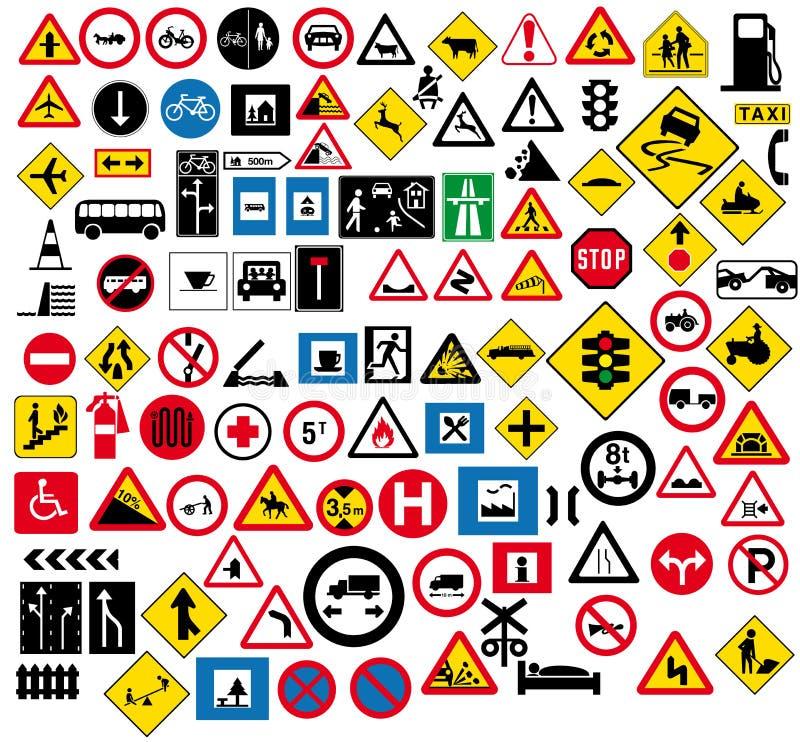 Signe de route illustration stock