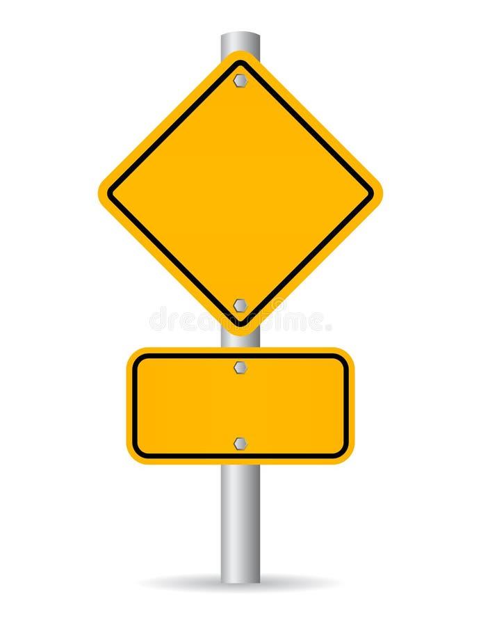 Signe de route blanc illustration libre de droits
