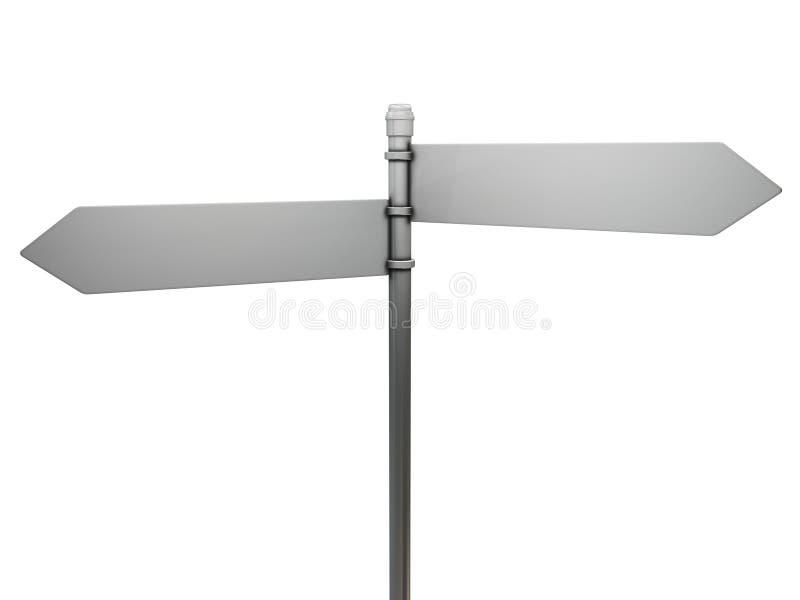 Signe de route blanc illustration de vecteur