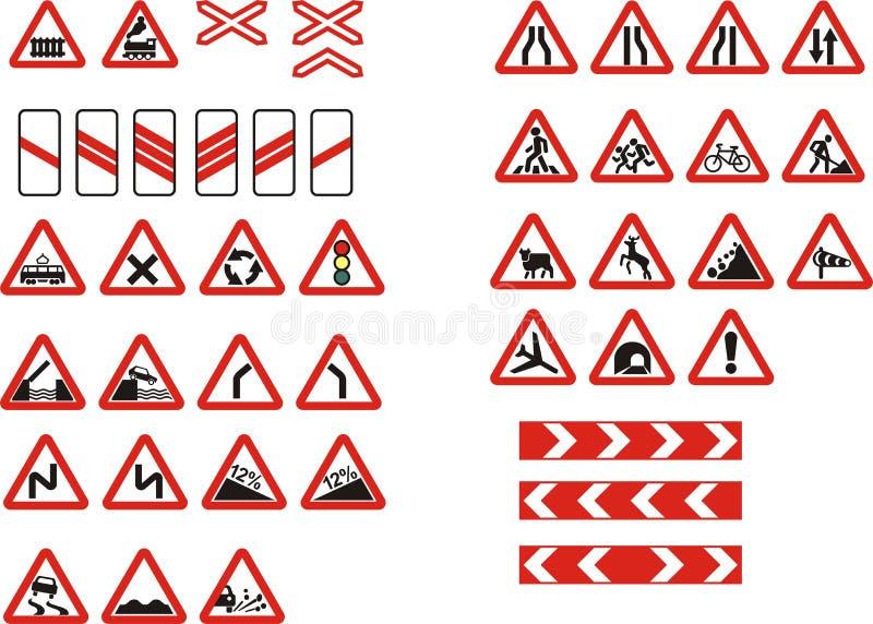 Signe de route d'avertissement illustration stock