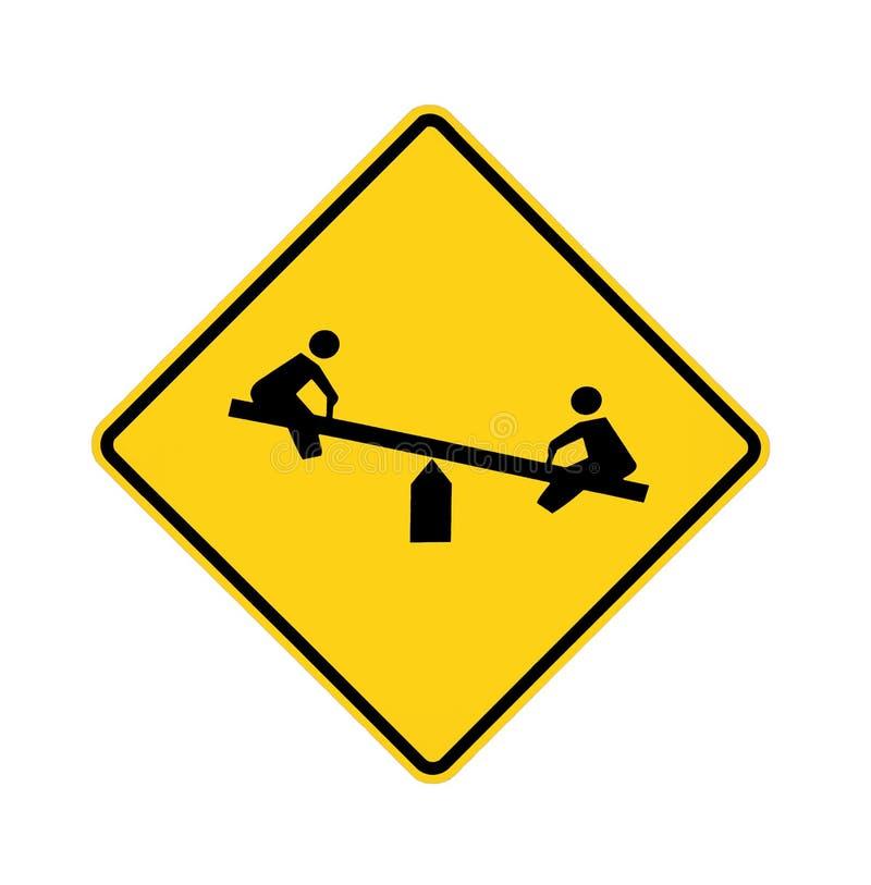 signe de route de cour de jeu images libres de droits