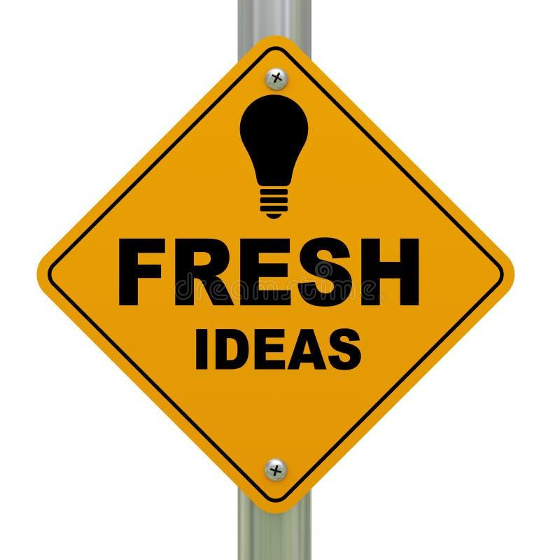 signe de route des idées 3d originales illustration de vecteur