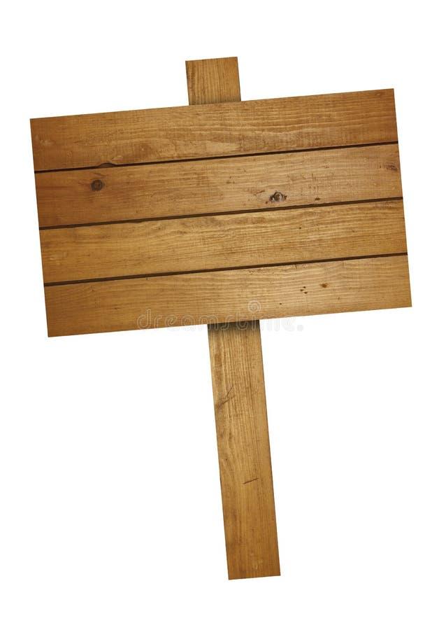 Signe de route en bois de Brown photo stock