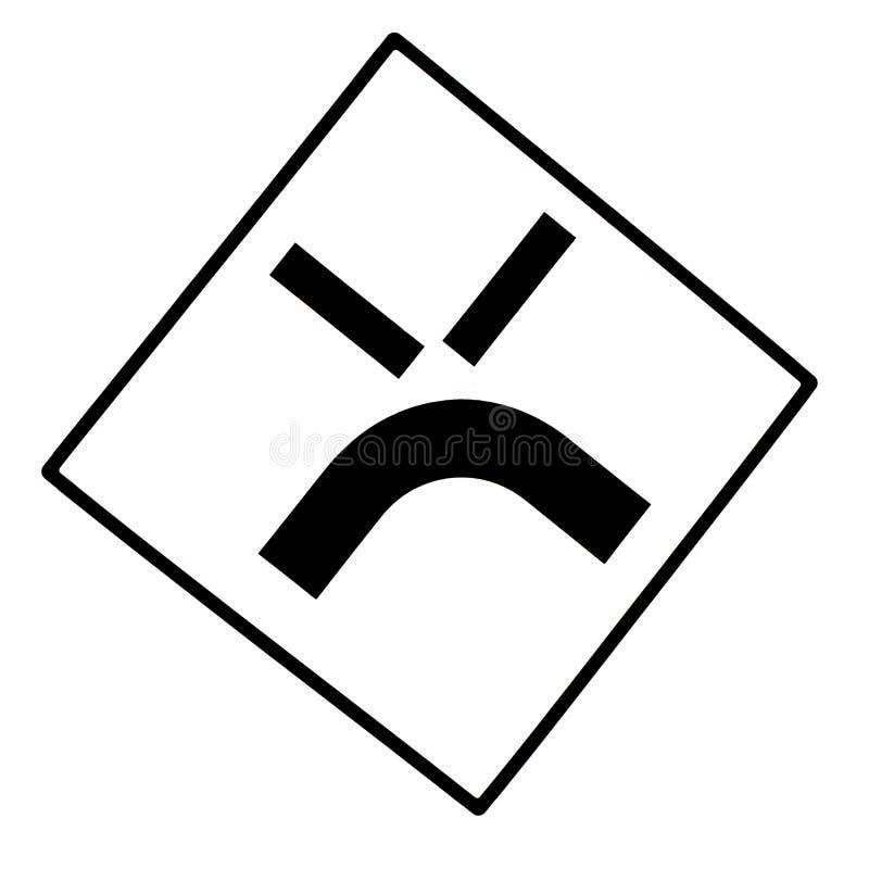 Signe de route fâché d'isolement image stock