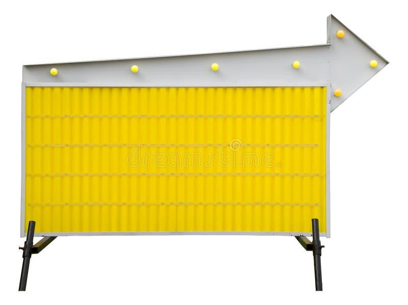 Signe de route informationnel blanc jaune photographie stock libre de droits