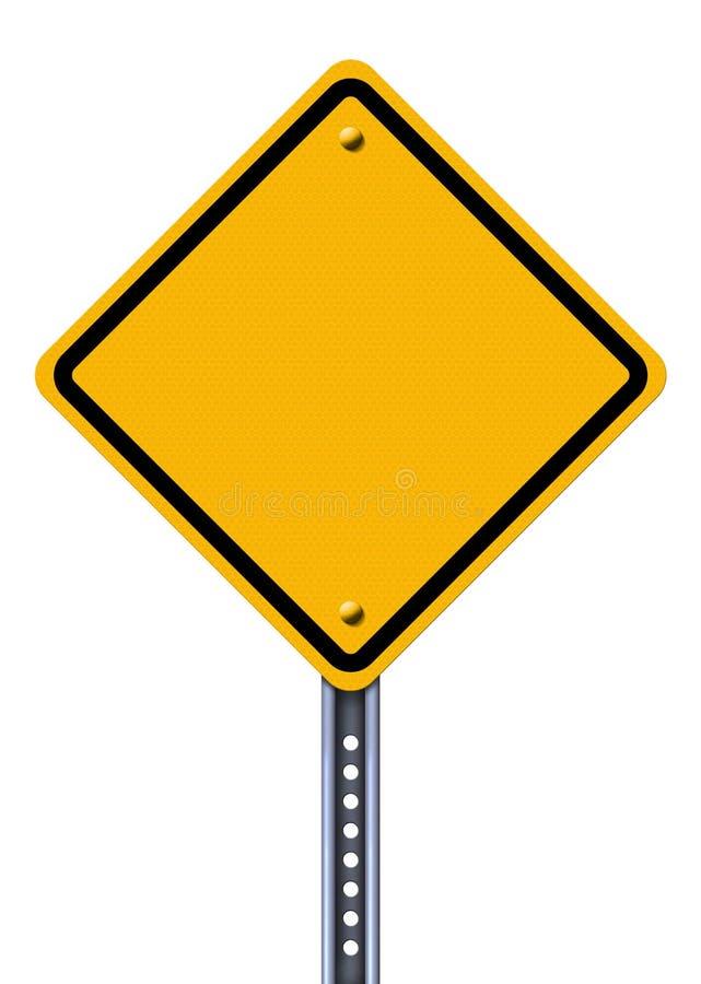 Signe de route jaune blanc illustration libre de droits