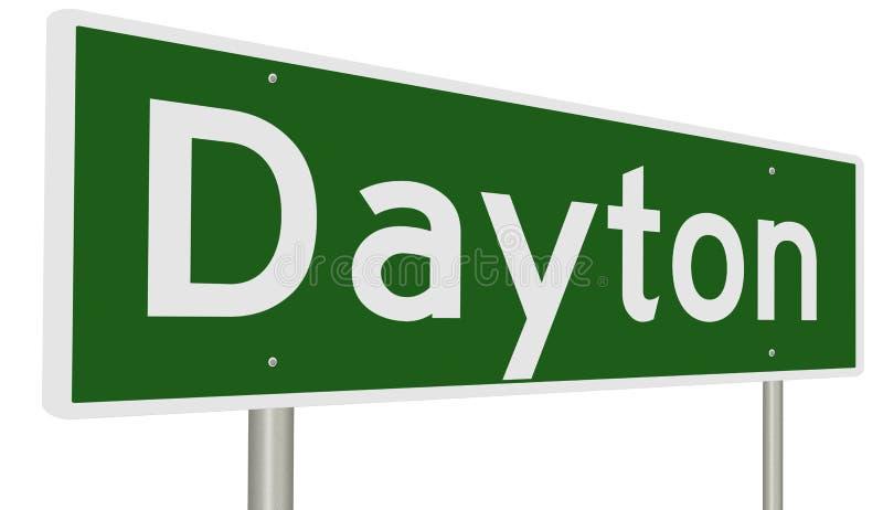 Signe de route pour Dayton Ohio illustration de vecteur