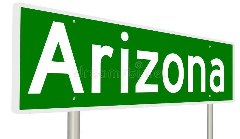 Signe de route pour l'Arizona illustration stock