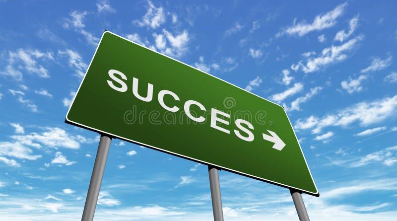 Signe de route Succes image stock