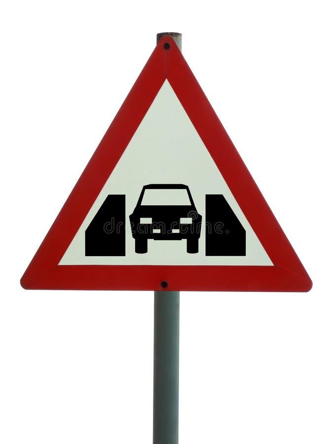 Signe de route - une largeur de véhicule photo libre de droits
