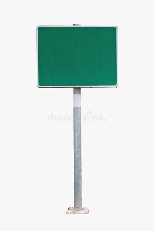Signe de route vert blanc photo stock
