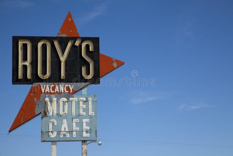 Signe de Roys, Amboy photographie stock