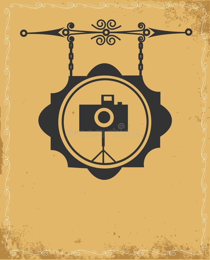 Signe de rue antique de mémoire de photo illustration libre de droits