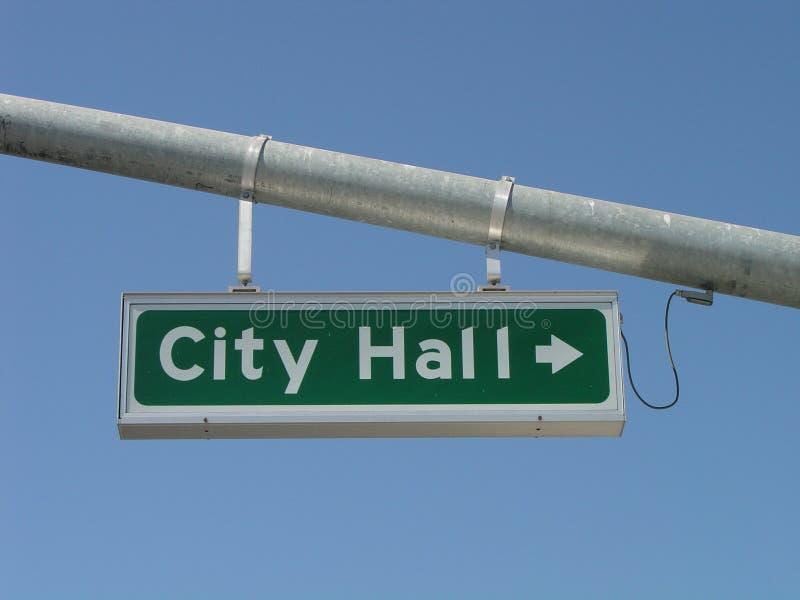 Signe de rue d'hôtel de ville photographie stock