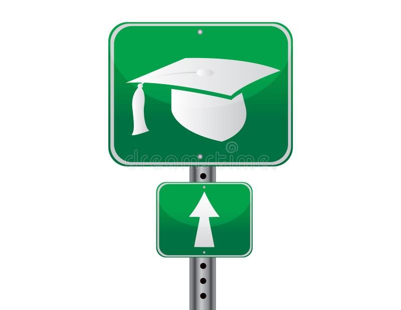 Signe de rue de graduation illustration de vecteur