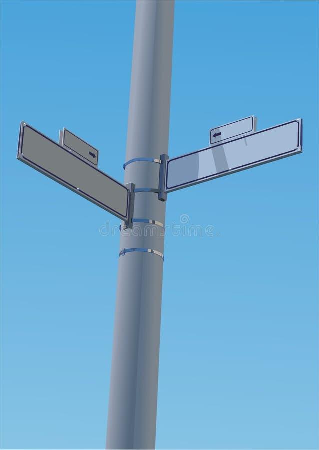 Signe de rue faisant le coin illustration libre de droits