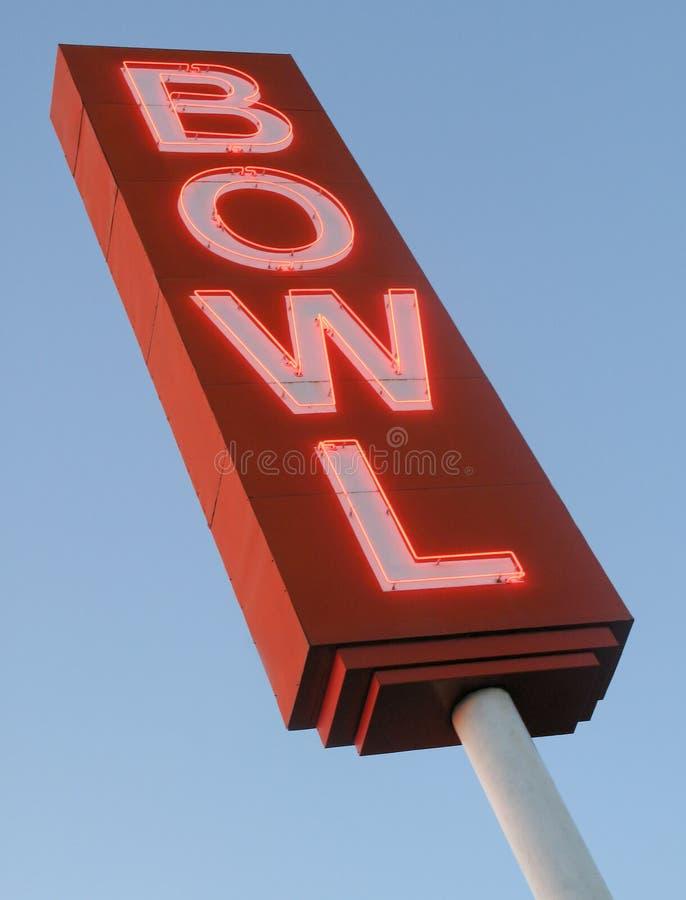 Signe de ruelle de bowling photos libres de droits