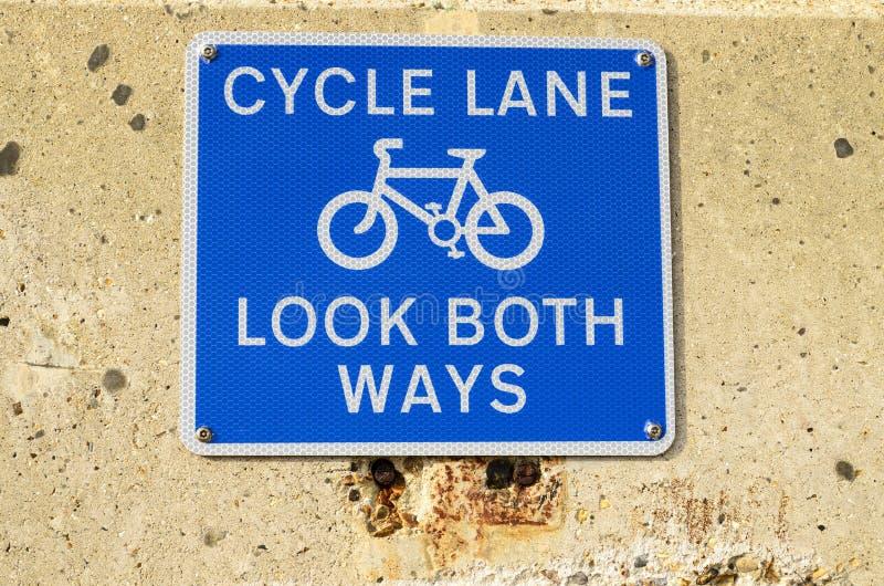 Signe de ruelle de cycle image libre de droits