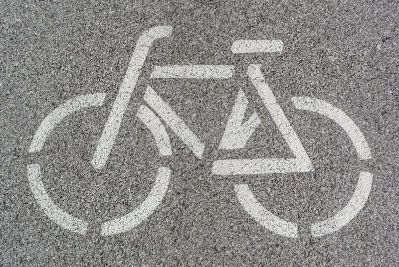 Signe de ruelle de vélo photo stock
