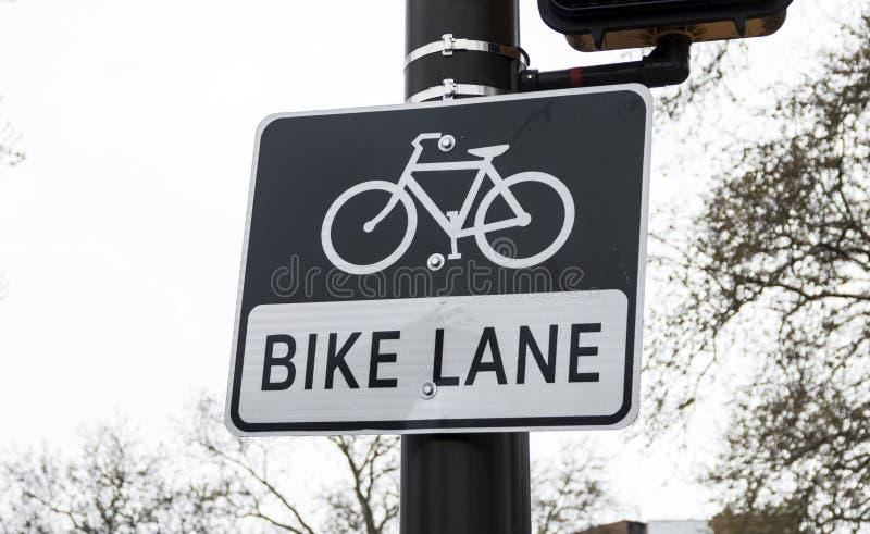 Signe de ruelle de vélo photo libre de droits
