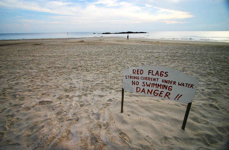 Signe de sécurité de plage images stock